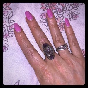 Sterling silver vintage Mexican adjustable ring